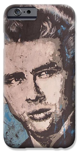 James Dean Blues iPhone Case by Eric Dee