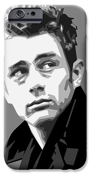 James Dean iPhone Cases - James Dean in Black and White iPhone Case by Douglas Simonson