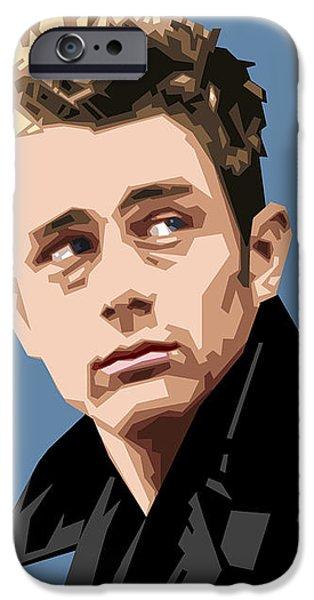 James Dean iPhone Cases - James Dean in Color iPhone Case by Douglas Simonson
