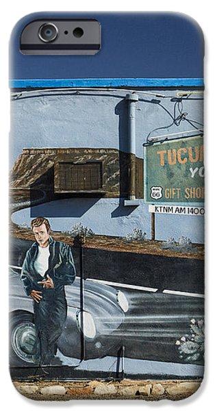 James Dean Mural in Tucumcari on Route 66 iPhone Case by Carol Leigh