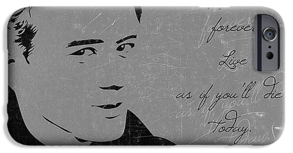 Quote iPhone Cases - James Dean Quote iPhone Case by Gina Dsgn