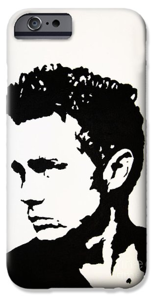 Modernism Mixed Media iPhone Cases - James Dean iPhone Case by Venus