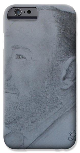 James Gandolfini iPhone Cases - James Gandolfini iPhone Case by Andrew Lahay