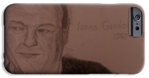 James Gandolfini iPhone Cases - James Gandolfini iPhone Case by Christopher Kyriss