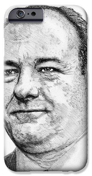 James Gandolfini iPhone Cases - James Gandolfini in 2007 iPhone Case by J McCombie