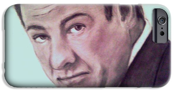 James Gandolfini iPhone Cases - James Gandolfini iPhone Case by Paula Soesbe