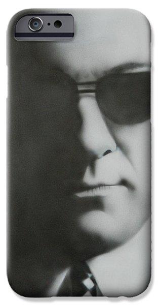 James Gandolfini iPhone Cases - James Gandolfini/Tony Soprano iPhone Case by Jake Rogers