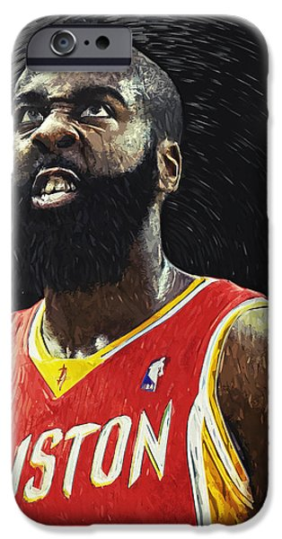 All Star Game iPhone Cases - James Harden iPhone Case by Taylan Soyturk