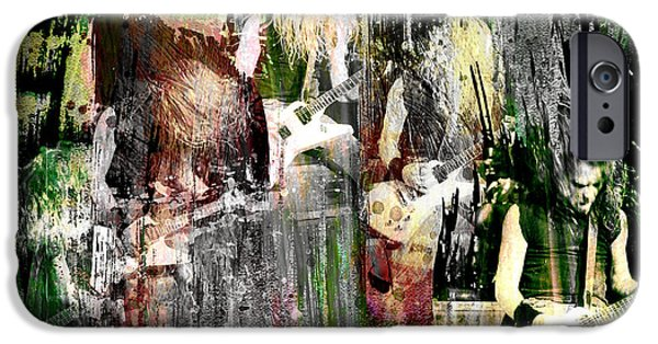 Metallica Paintings iPhone Cases - James Hetfield - Metallica iPhone Case by Ryan RockChromatic