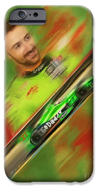 Indy Car iPhone Cases - James Hinchcliffe iPhone Case by Blake Richards