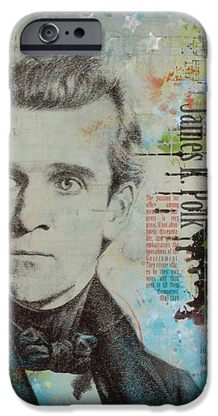 University Of Washington iPhone Cases - James K. Polk iPhone Case by Corporate Art Task Force