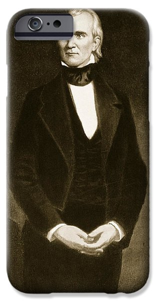 White House Paintings iPhone Cases - James K Polk  iPhone Case by George Healy