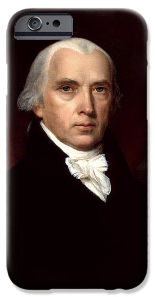 Politician Digital iPhone Cases - James Madison iPhone Case by Nomad Art And  Design