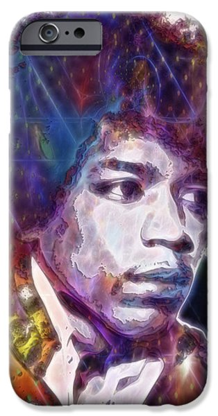 James Marshall Jimi Hendrix iPhone Cases - James Marshall Hendrix iPhone Case by D Walton