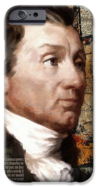 James Monroe iPhone Case by Corporate Art Task Force