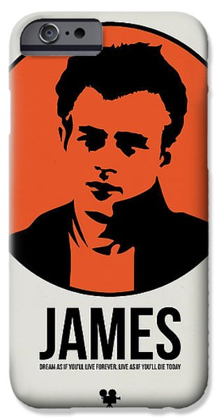 Film Mixed Media iPhone Cases - James Poster 1 iPhone Case by Naxart Studio
