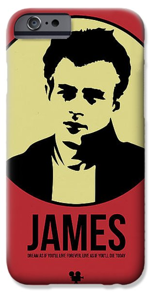 Film Mixed Media iPhone Cases - James Poster 2 iPhone Case by Naxart Studio