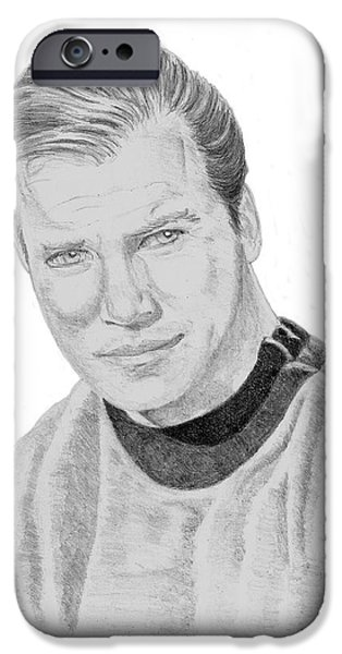 James Tiberius Kirk iPhone Case by Thomas J Herring