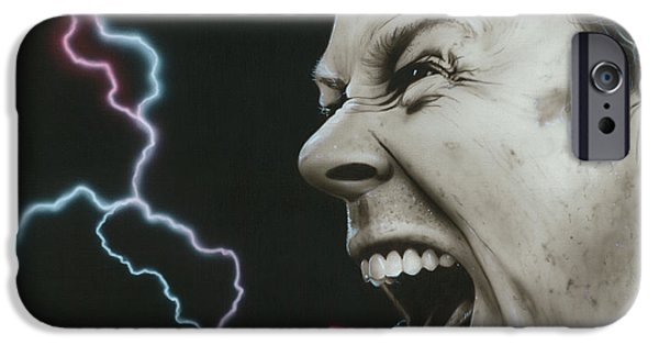 Metallica Paintings iPhone Cases - James Wrath iPhone Case by Christian Chapman Art