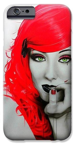 Jamie Stokes iPhone Case by Christian Chapman Art