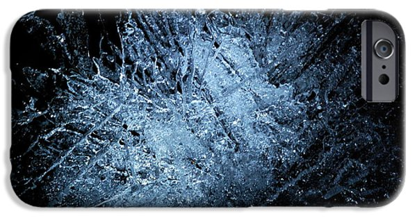 Macrocosm iPhone Cases - jammer Frozen Cosmos iPhone Case by First Star Art