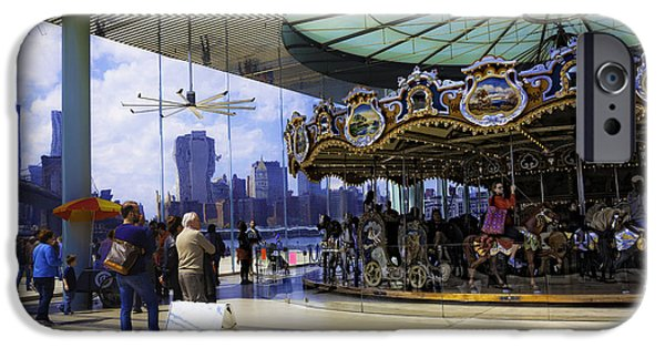 Wood Carving iPhone Cases - Janes Carousel 2 In Dumbo - Brooklyn iPhone Case by Madeline Ellis