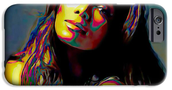 Expressionism Digital Art iPhone Cases - Janet Jackson iPhone Case by  Fli Art