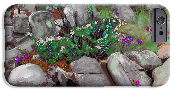 Prescott Mixed Media iPhone Cases - Janies garden #4 iPhone Case by Craig Nelson