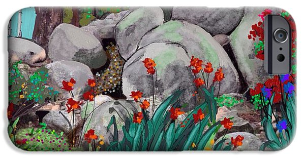 Prescott Mixed Media iPhone Cases - Janies Garden no. 3 iPhone Case by Craig Nelson
