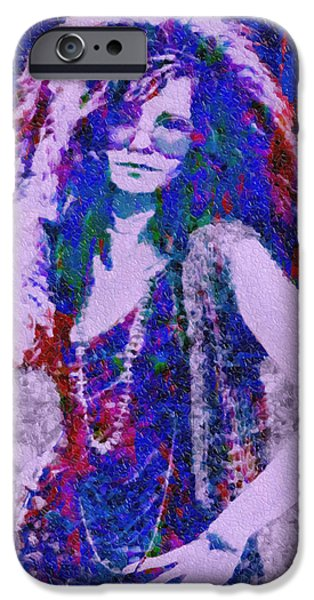 Bobby iPhone Cases - Janis Joplin Mosaic iPhone Case by Jack Zulli