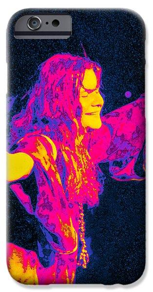 Janis Joplin Psychedelic Fresno 2 iPhone Case by Joann Vitali