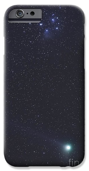 Comets iPhone Cases - January 6, 2005 - Comet Machholz iPhone Case by Alan Dyer