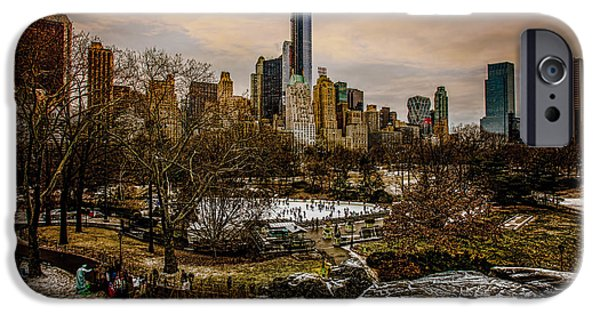 Warner Park iPhone Cases - January At Central Park South iPhone Case by Chris Lord