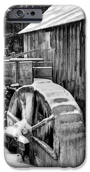 Grist Mill iPhone Cases - January Grist Mill iPhone Case by Michael Eingle