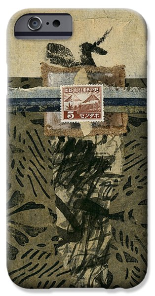 Torn Mixed Media iPhone Cases - Japan 1943 Collage iPhone Case by Carol Leigh