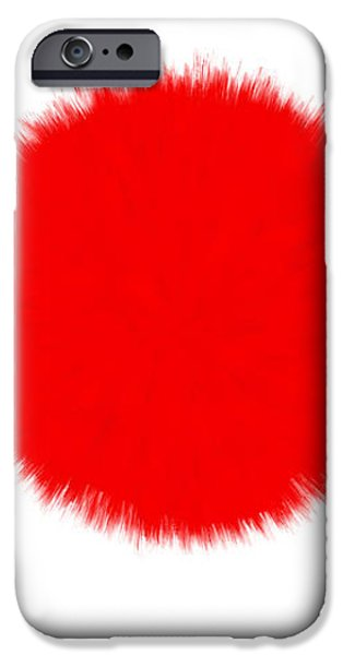 JAPAN FLAG iPhone Case by Daniel Hagerman