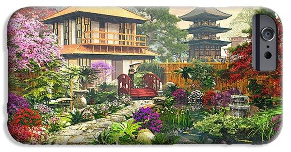 Japan House iPhone Cases - Japan Garden iPhone Case by Dominic Davison