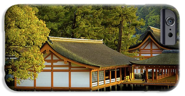 Roof iPhone Cases - Japan Itsukushima iPhone Case by Sebastian Musial