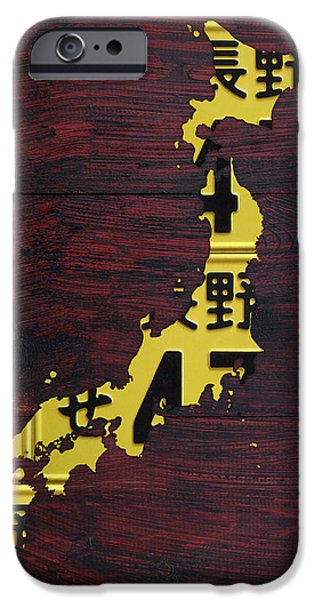 Recycle iPhone Cases - Japan License Plate Map iPhone Case by Design Turnpike