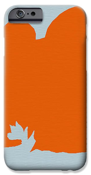Japanese Chin Orange iPhone Case by Naxart Studio