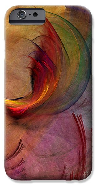 Poetic iPhone Cases - Japanese Garden-Abstract Art iPhone Case by Karin Kuhlmann