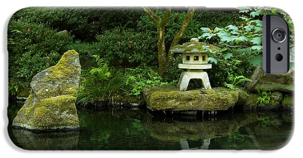 Buddhism iPhone Cases - Japanese Garden Calmness iPhone Case by Christiane Schulze Art And Photography