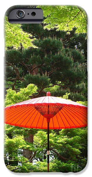Nara iPhone Cases - Japanese garden in Nara iPhone Case by Delphimages Photo Creations