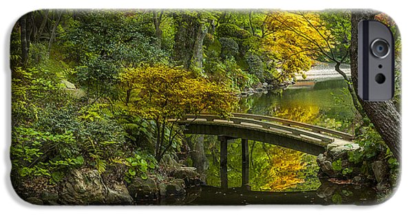 Serenity iPhone Cases - Japanese Garden iPhone Case by Sebastian Musial