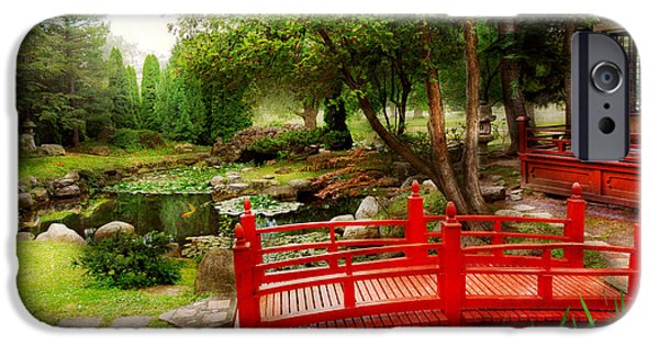 Japan House iPhone Cases - Japanese - Harmony and Nature iPhone Case by Mike Savad