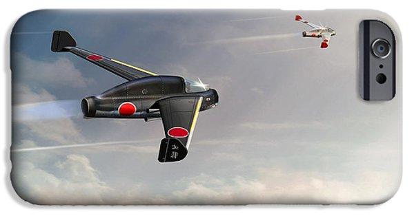 Will Power iPhone Cases - Japanese Kayaba Katsuodori WW2 jet iPhone Case by John Wills