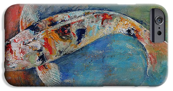 Michael iPhone Cases - Japanese Koi iPhone Case by Michael Creese