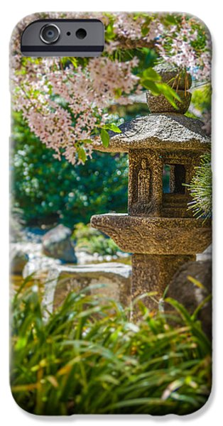 Usa Photographs iPhone Cases - Japanese shrine in the garden iPhone Case by Sarit Sotangkur