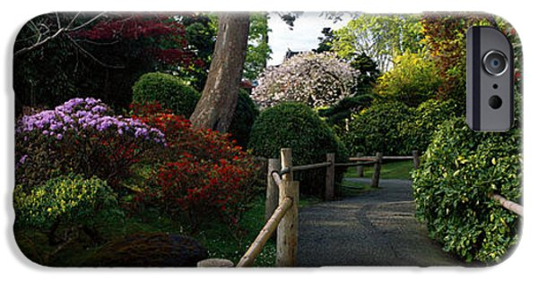 Pathway iPhone Cases - Japanese Tea Garden, San Francisco iPhone Case by Panoramic Images