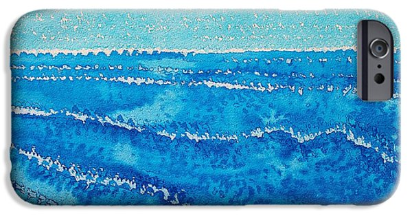 Printmaking iPhone Cases - Japanese Waves original painting iPhone Case by Sol Luckman